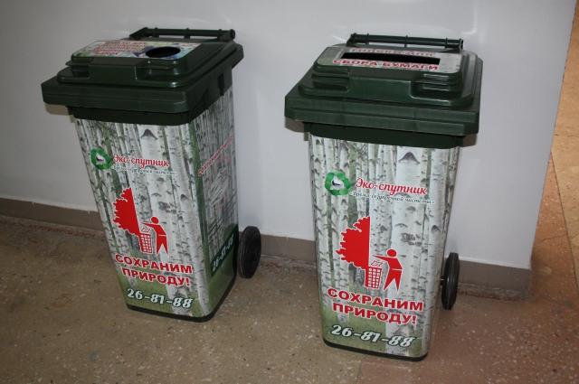 Ребята с удовольствием пользуются установленными контейнерами.