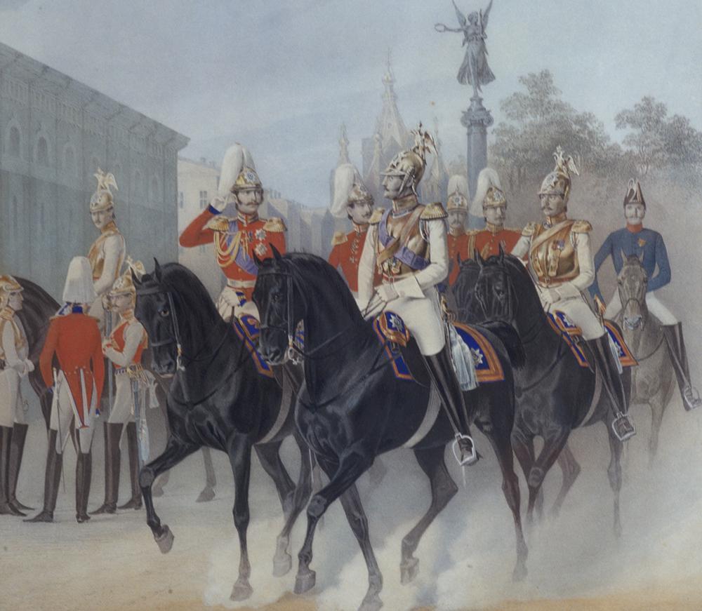 Николай I и цесаревич Александр Николаевич. 1847 г.