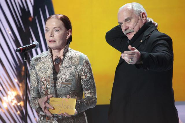 Актриса Людмила Чурсина и Никита Михалков. 2010 год.