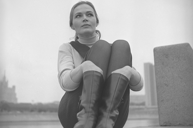 Актриса театра и кино Людмила Чурсина. 1968 год.