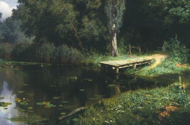 Заросший пруд впоследствии писали несколько художников.