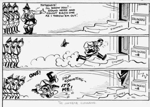 Сталинградская битва в карикатурах