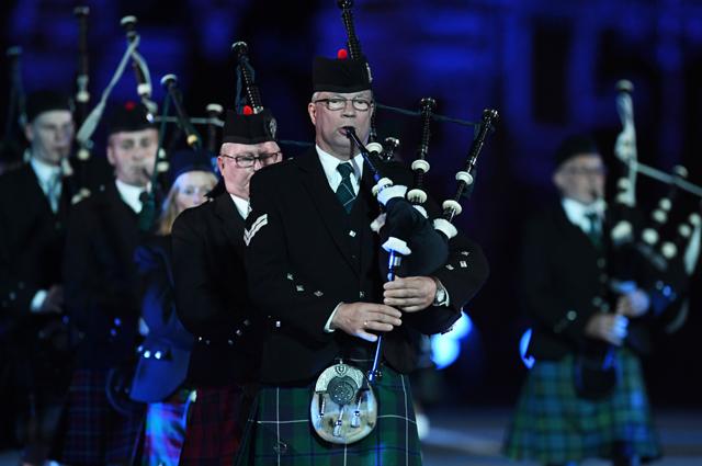 Генеральная репетиция церемонии открытия фестиваля «Спасская башня» на Красной площади в Москве.