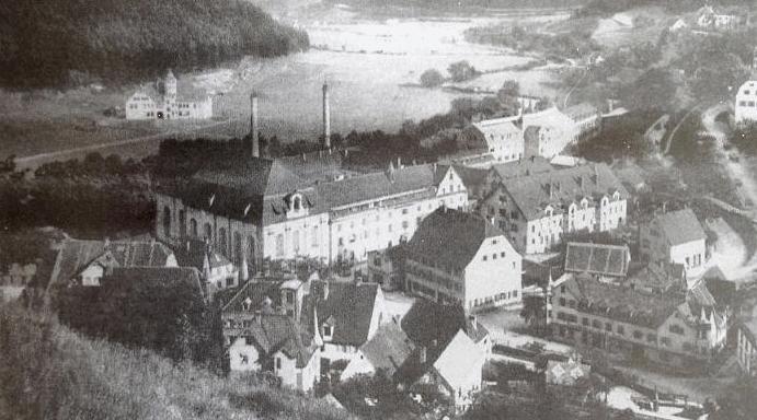 Комплекс зданий компании Маузер в Оберндорфе-на-Неккаре в 1910 году.