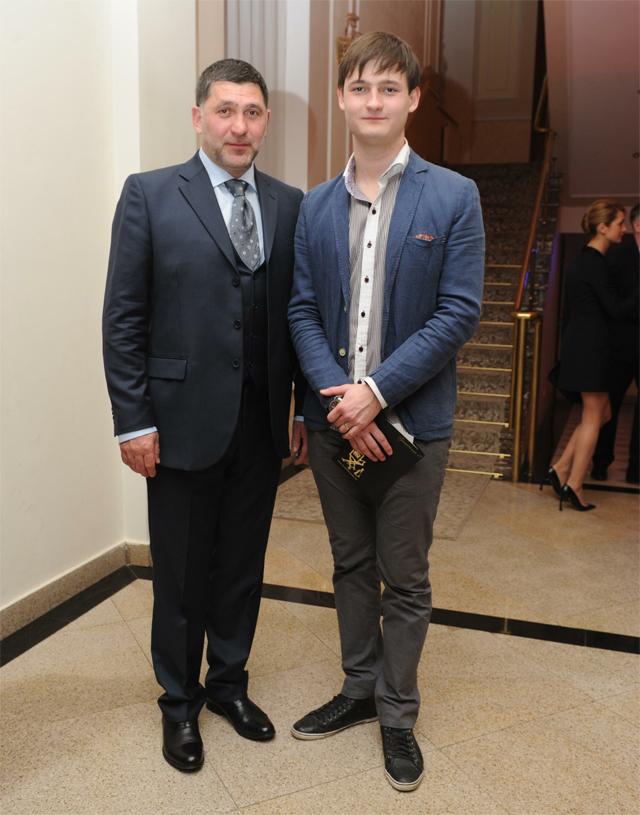 Сергей Пускепалис и его сын Глеб. 2014 г.