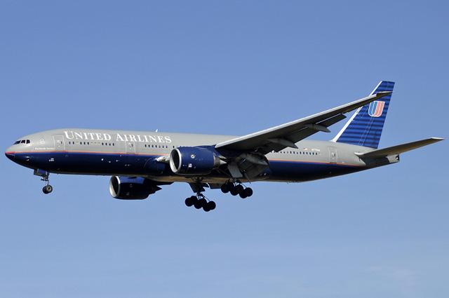 Boeing 777-200 американской авиакомпании United Airlines.