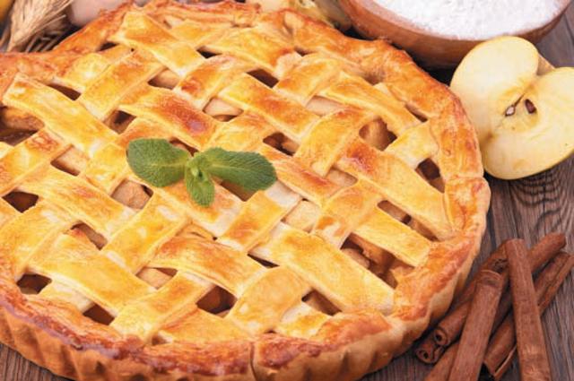 Пирог с яблоками и корицей.