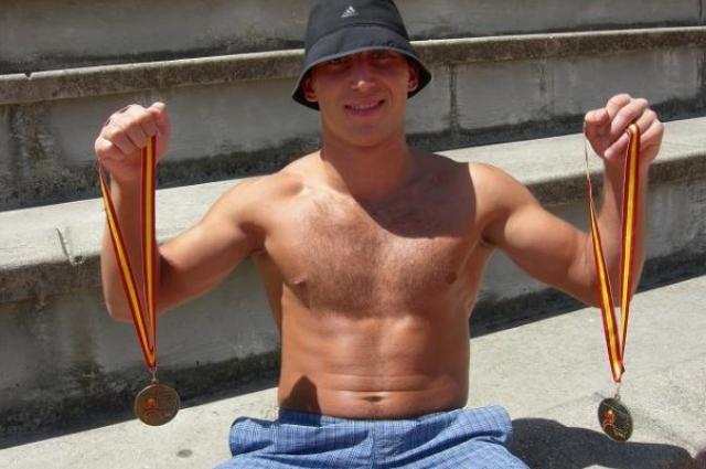 Андрей Сироткин с медалями чемпионата мира-2009