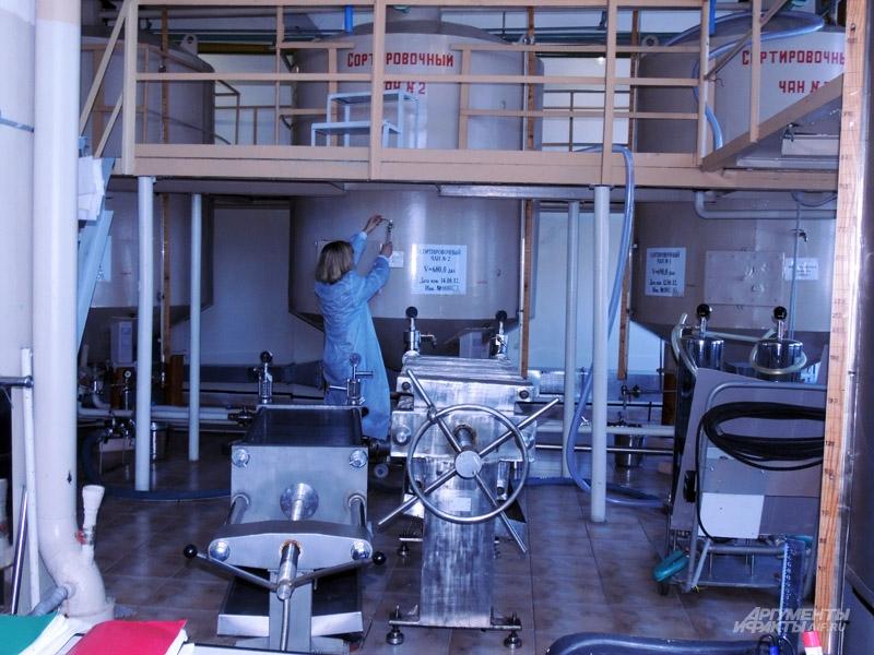 Сортировочное отделение завода