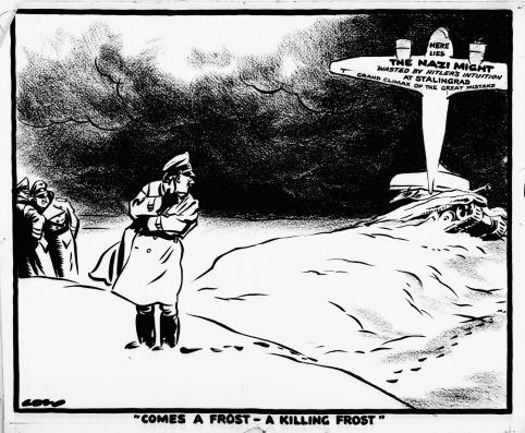 Сталинградская битва в политических карикатурах