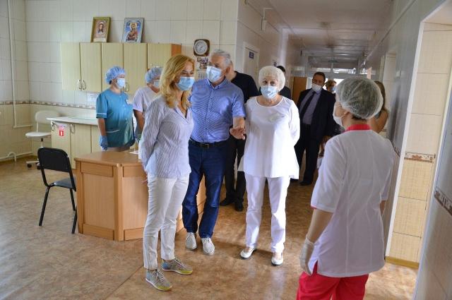 Ирина Солдатова во время рабочей поездки.