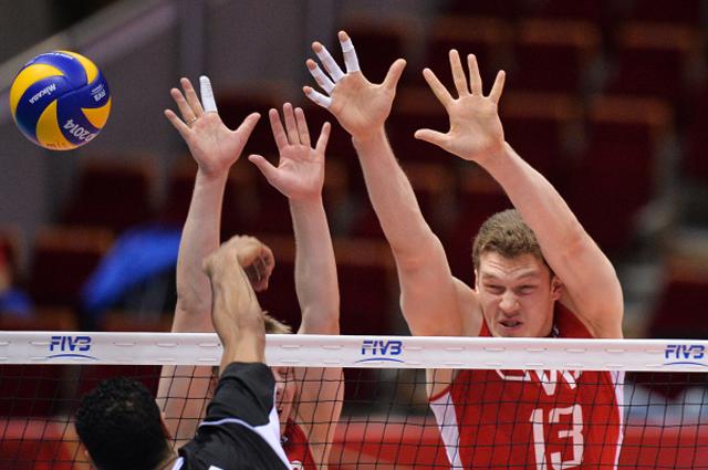Дмитрий Мусэрский в матче чемпионата мира по волейболу между командами Египта и России в Гданьске