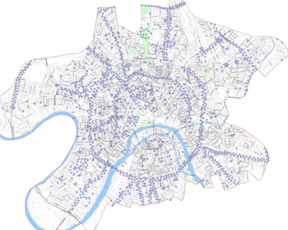 Карта Wi-Fi в ЦАО