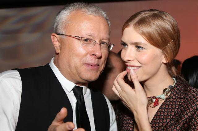 Глава Национальной резервной корпорации и владелец Национального резервного банка Александр Лебедев и модель Елена Перминова