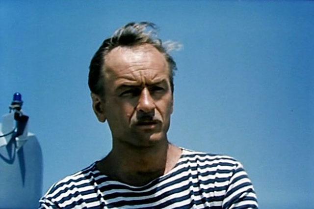 Михаил Ножкин. Кадр из фильма «Одиночное плавание», 1985 г.
