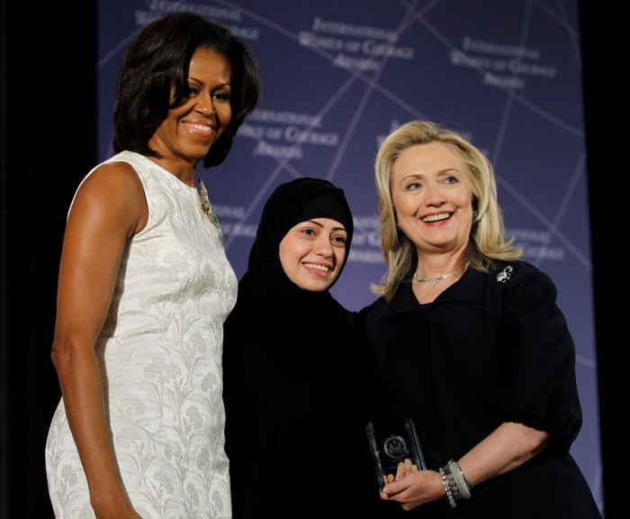 Мишель Обама, Самар Бадави и Хиллари Клинтон, 2012 г.