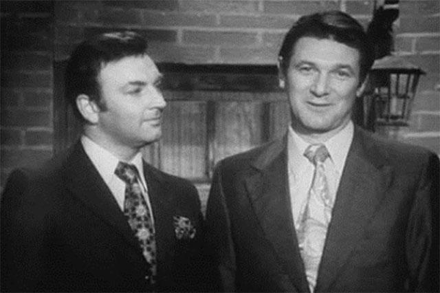 Ведущие «Кабачка» Михаил Державин и Александр Белявский (справа).