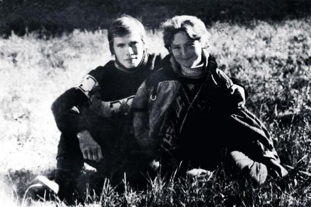Василий Голубев с будущей супругой в студенческие годы, 1976 год.