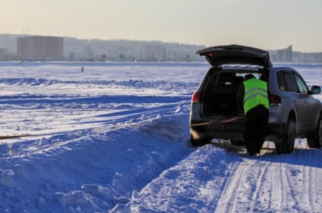 950 км по зимнику – и ы в Красноярске.