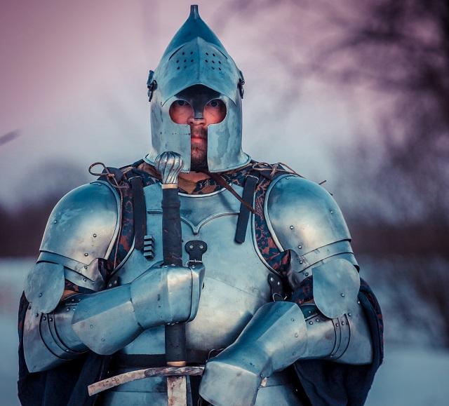 Русский рыцарь Дмитрий Савченко. Фото: Андрей Бойков/Агентство  исторических проектов «Ратоборцы».