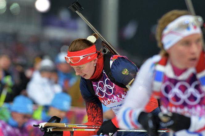 Стартовавшая второй Ольга Вилухина допустила одну ошибку на огневом рубеже и бежала медленее соперниц. В итоге россиянка заняла лишь седьмое место