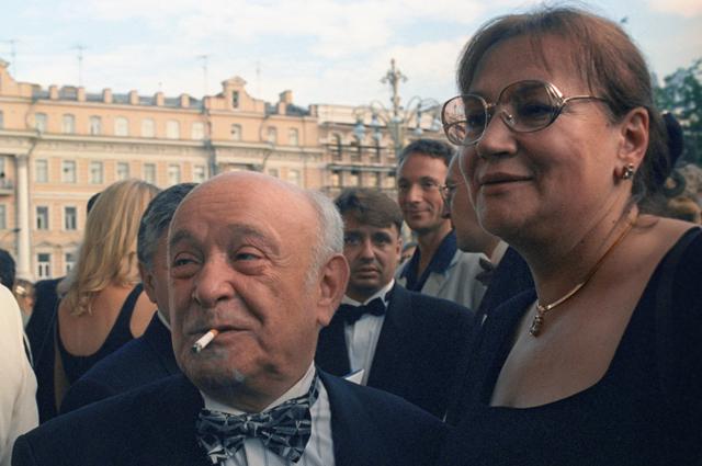 Елена Санаева и Ролан Быков. 1983 год.