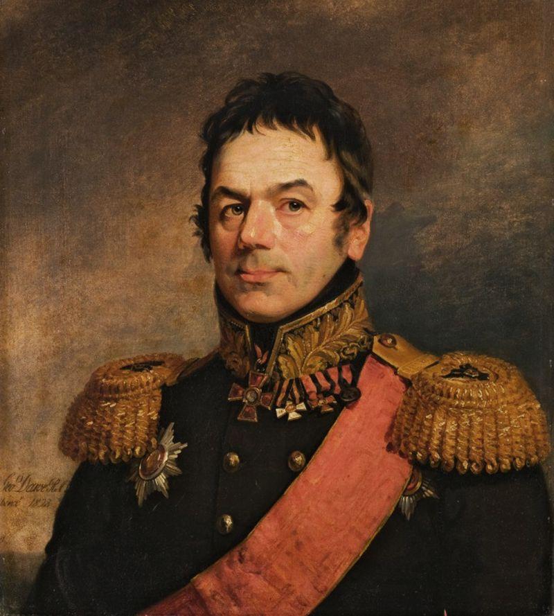 Портрет вице-адмирала С.И. Миницкого работы английского художника Доу Джороджа,1823 год.