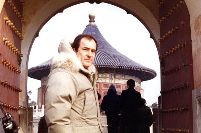 Бернардо Бертолуччи во время съемок фильма «Последний император».