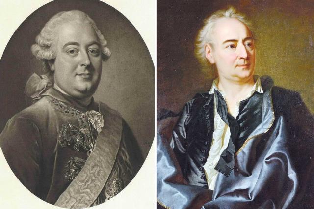 Князь Андрей Михайлович Белосельский и философ Дени Дидро.