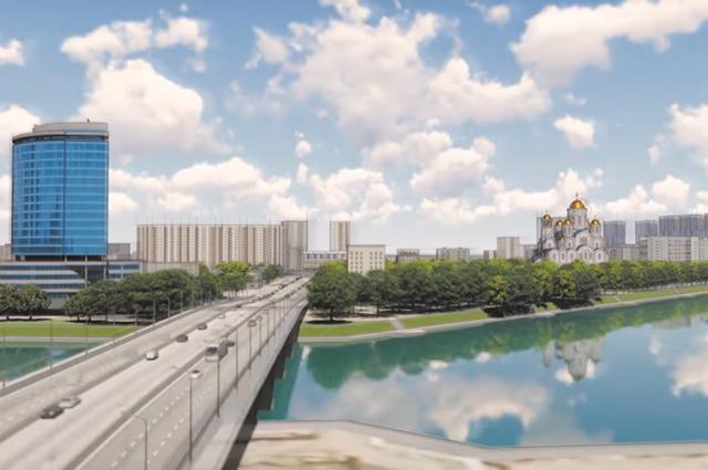 Так будет выглядеть собор за Макаровским мостом.