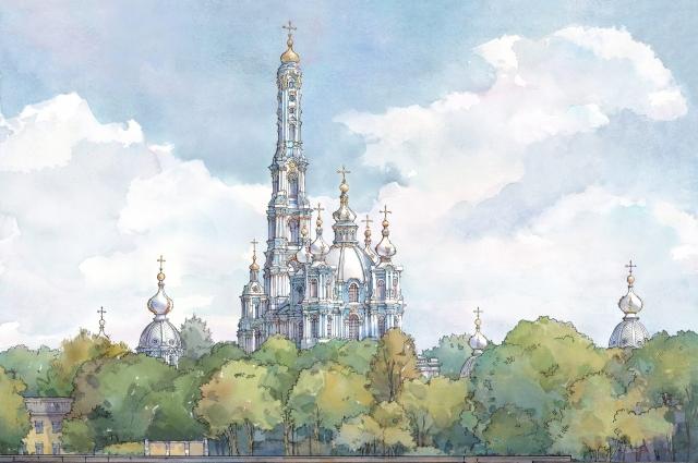 Колокольня должна была стать венцом Смольного ансамбля и архитектурной доминантой города.