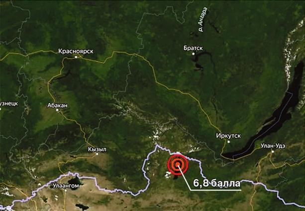 Интенсивность сотрясений от последнего землетрясения в Монголии в Красноярске составила около 3 баллов по 12-балльной шкале MSK-64.