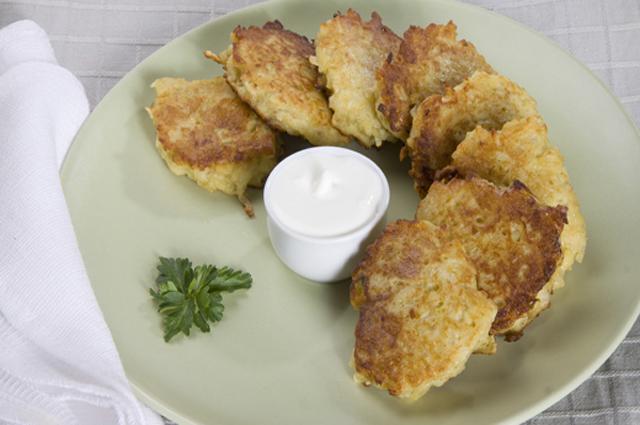 Картофельные латкес.