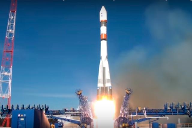 Запуск ракеты с космодрома «Восточный».