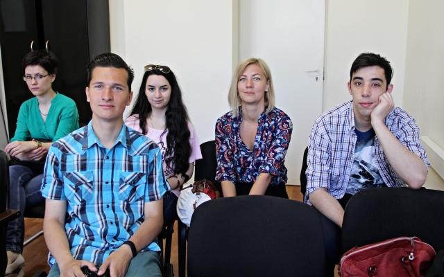 Псковские участники всероссийской видеоконференции.