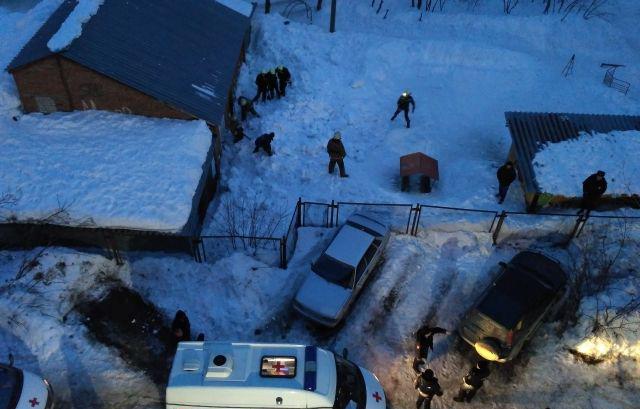 Школьников вовремя откопали жильцы соседнего дома.