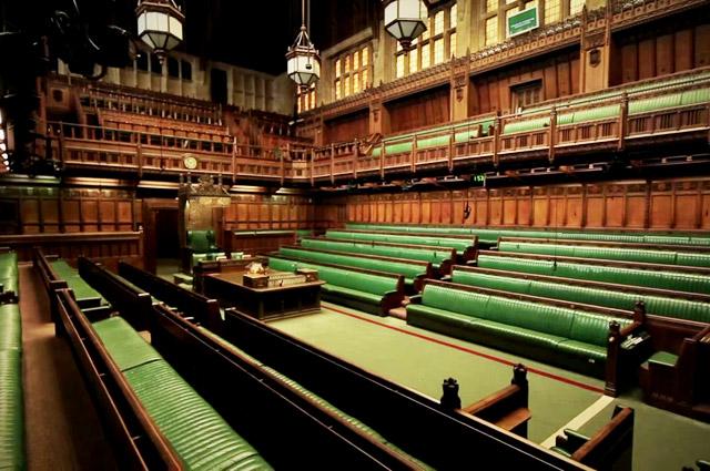 Палата общин Британского парламента.