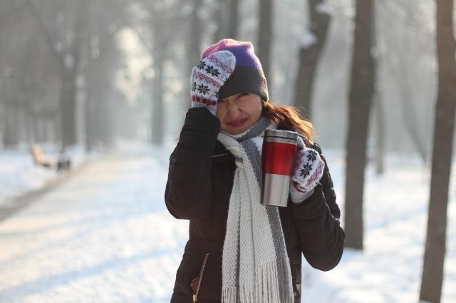 Зимняя прогулка и чай в термо-кружке - что может быть лучше?