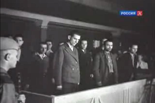 Краснодарский процесс. Подсудимые во время оглашения приговора.