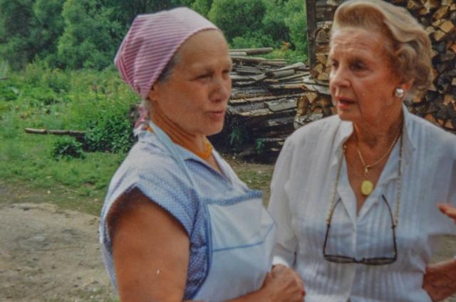 Мария Богомолова и леди Валерия, встреча через полвека.