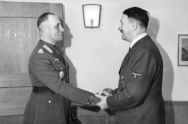 Эрвин Роммель и Адольф Гитлер, 1942 год