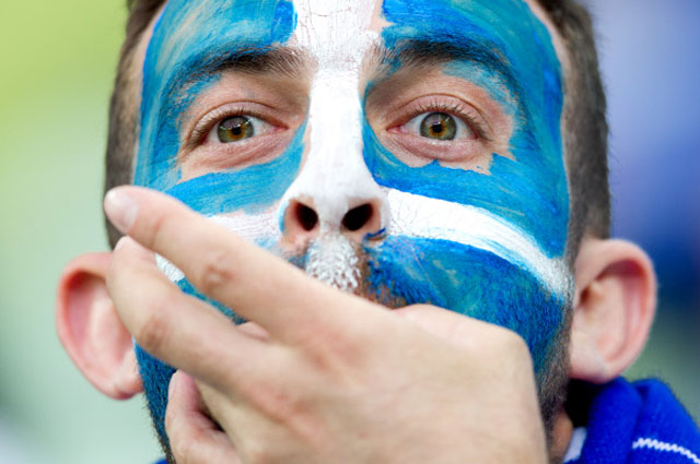 Болельщик сборной Греции
