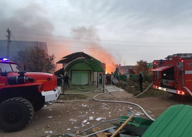 Разрушен дом в селе в Башкирии