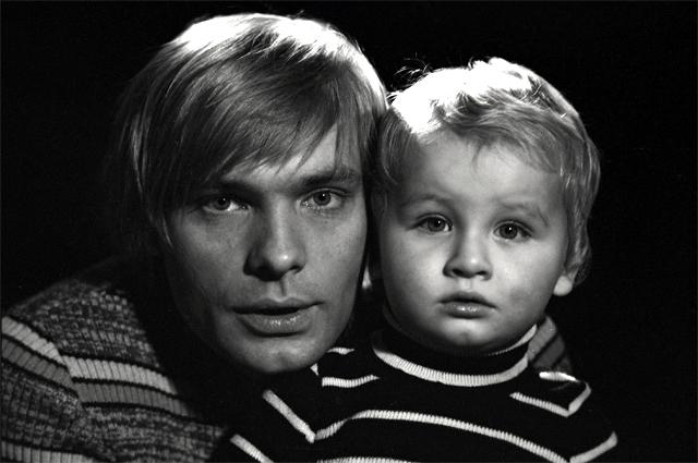 Олег Видов с сыном