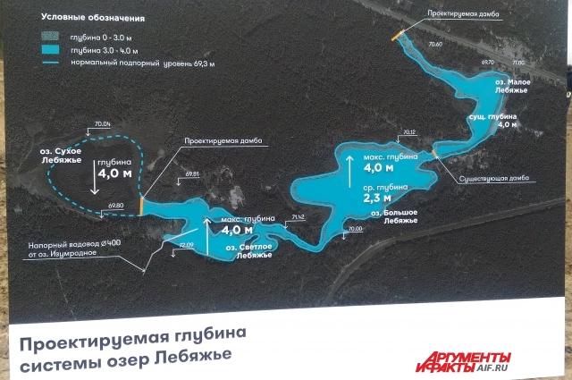 А вот озеро Сухое восстанавливать не будут, оно заросло деревьями и имеет собственную экосистему.