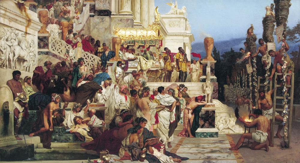 Генрих Семирадский. «Светочи христианства. Факелы Нерона». 1882 г.
