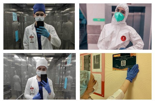 Пермские волонтёры-медики спешат на работу в полном омбундировании.