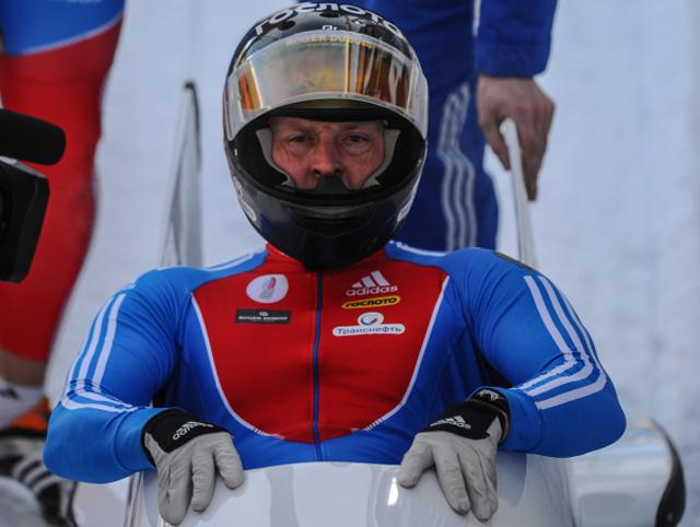 Александр Зубков во время чемпионата мира по бобслею и скелетону в швейцарском Санкт-Морице