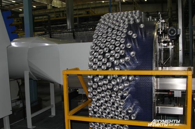 Выпуск алюминиевых банок на заводе в Новочеркаске полностью автоматизирован
