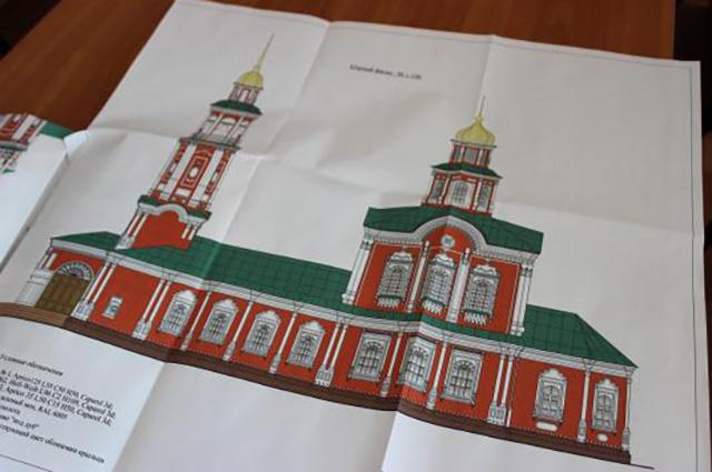 Проект храма.